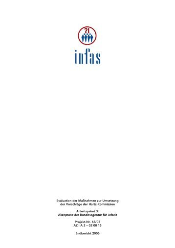 Evaluation der Maßnahmen zur Umsetzung der Vorschläge ... - Infas