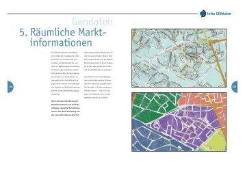 Geodaten 5. Räumliche Markt- informationen - infas GEOdaten
