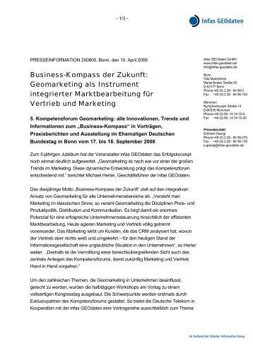 Business-Kompass der Zukunft: Geomarketing als ... - infas GEOdaten