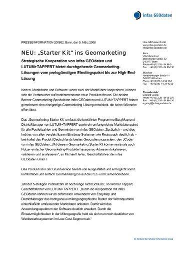 "NEU: ""Starter Kit"" ins Geomarketing - infas GEOdaten"