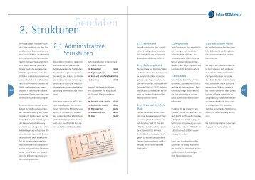 Geodaten 2. Strukturen - infas GEOdaten