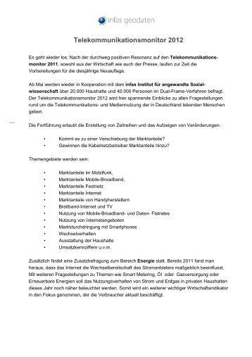 Telekommunikationsmonitor 2012 - infas GEOdaten