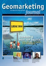 Geomarketing Journal 02/2009 - infas GEOdaten