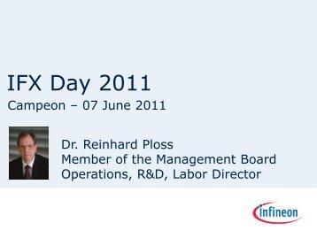 Presentation by Dr. Reinhard Ploss - Infineon