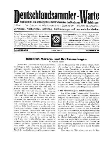 Heft 51 - INFLA-Berlin, Verein der Deutschlandsammler eV