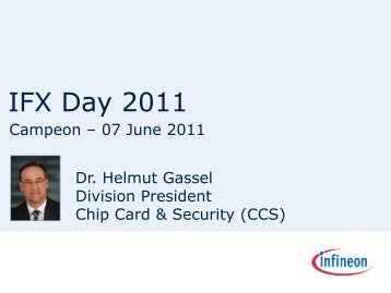 Presentation by Dr. Helmut Gassel - Infineon