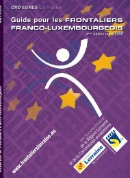 Guide pour les FRONTALIERS FRANCO-LUXEMBOURGEOIS