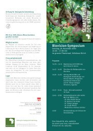Programm (PDF) - Biovision