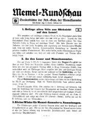 Memel-Rundschau Nr. 9 - INFLA-Berlin, Verein der ...