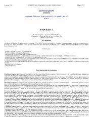 INFOVISTA SA. CONVOCATIONS