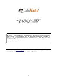 ANNUAL FINANCIAL REPORT FISCAL YEAR 2008/2009 - InfoVista