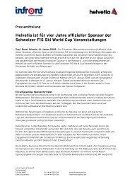Helvetia ist für vier Jahre offizieller Sponsor der Schweizer ... - Infront