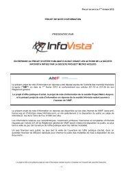 PRESENTEE PAR - InfoVista