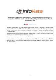 Informations relatives aux caractéristiques, notamment ... - InfoVista