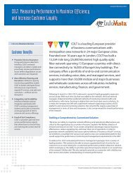 COLT: Measuring Performance to Maximize Efficiency ... - InfoVista