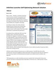 InfoVista Launches Self-Optimizing Network Solution