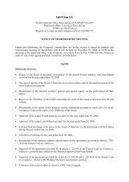 Notice of a Shareholders - InfoVista SA