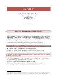 descriptif du programme de rachat d'actions  - InfoVista