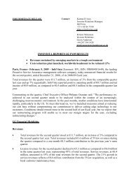Download the CONSOLIDATED  STATEMENTS OF ... - InfoVista