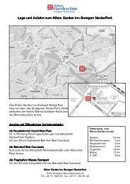 Lage und Anfahrt zum Hilton Garden Inn Stuttgart NeckarPark Lage ...