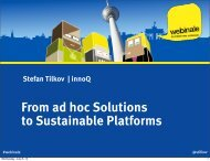 From ad hoc Solutions to Sustainable Platforms