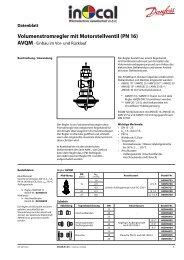 Volumenstromregler mit Motorstellventil (PN 16) - Danfoss