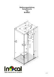 Bedienungsanleitung Dampfdusche Typ M-A6027