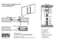 Schiebesystem swing (Bodensystem) 1-flg. in der Wand ... - Inova