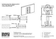 Schiebesystem fino (Bodensystem) 1-flg. in der Wand laufend - Inova