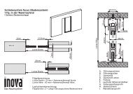 Schiebesystem focus (Bodensystem) 1-flg. in der Wand laufend - Inova