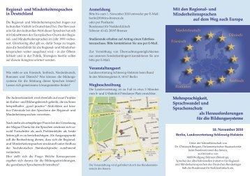 Mit den Regional - Institut für niederdeutsche Sprache e.V.