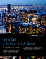 Let's Get BlackBerry 10 Ready - Insight