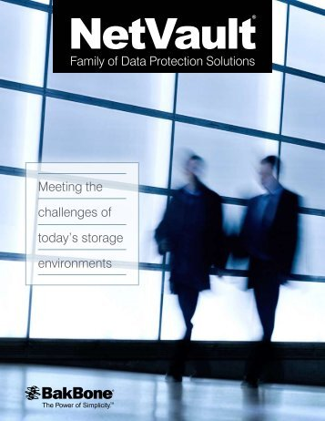 NetVault Family Brochure