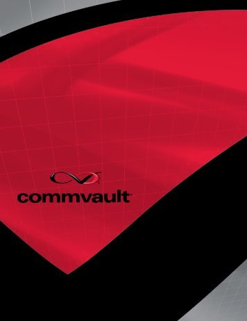 CommVault Corporate Brochure - Insight