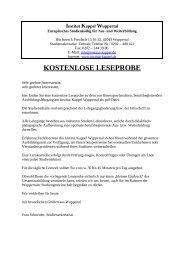 Leseprobe Heilpraktiker für Psychotherapie ... - Institut Kappel