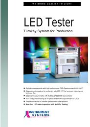 LED Tester - Instrument Systems