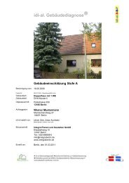 idi-al. Gebäudediagnose - Integra Planen und Gestalten GmbH, Berlin