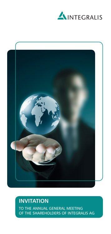 AGM Invitation and Agenda - Integralis
