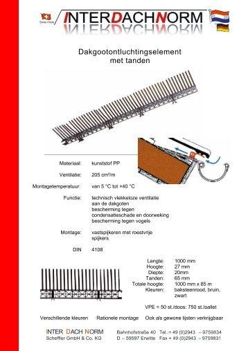 Gegevensblad - Interdachnorm Scheffler GmbH & Co. KG