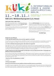 KUKI ab 8 / Wettbewerbsprogramm (3./4. Klasse)