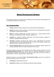 InterGest Extra Brochure: Market Development Strategy
