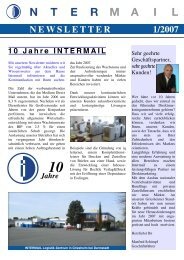 N E W S L E T T E R 1/2007 - INTERMAIL Direktmarketing