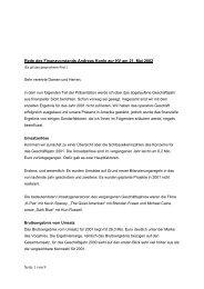 Seite 1 von 9 Rede des Finanzvorstands Andreas Konle zur HV am ...