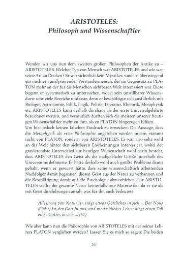 ARISTOTELES: Philosoph und Wissenschaftler - Internet-Goslar.de