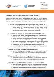 Checkliste: Wie kann ich Cloud-Dienste sicher ... - IHK Rhein-Neckar