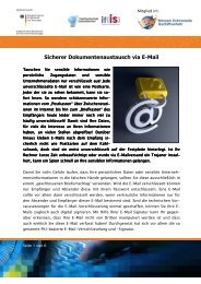Sicherer Dokumentenaustausch via E-Mail - Institut für Internet ...