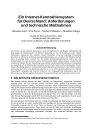 Ein Internet-Kennzahlensystem für Deutschland: Anforderungen und ...