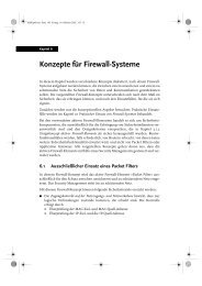 Konzepte für Firewall-Systeme - Institut für Internet-Sicherheit