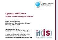 OpenID trifft nPA - Sichere Authentisierung im Internet - Institut für ...