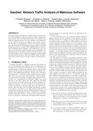 Sandnet: Network Traffic Analysis of Malicious ... - Christian Rossow
